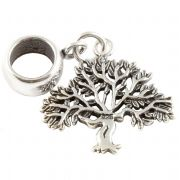 Tree Sterling Silver Dangle Charm / Carrier Bead